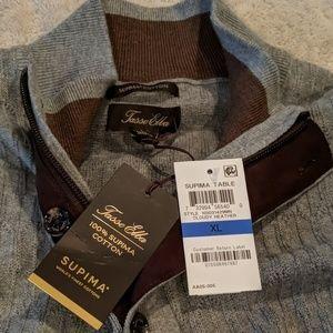Tasso Elba XL Gray 1/4 zip up pullover NWT